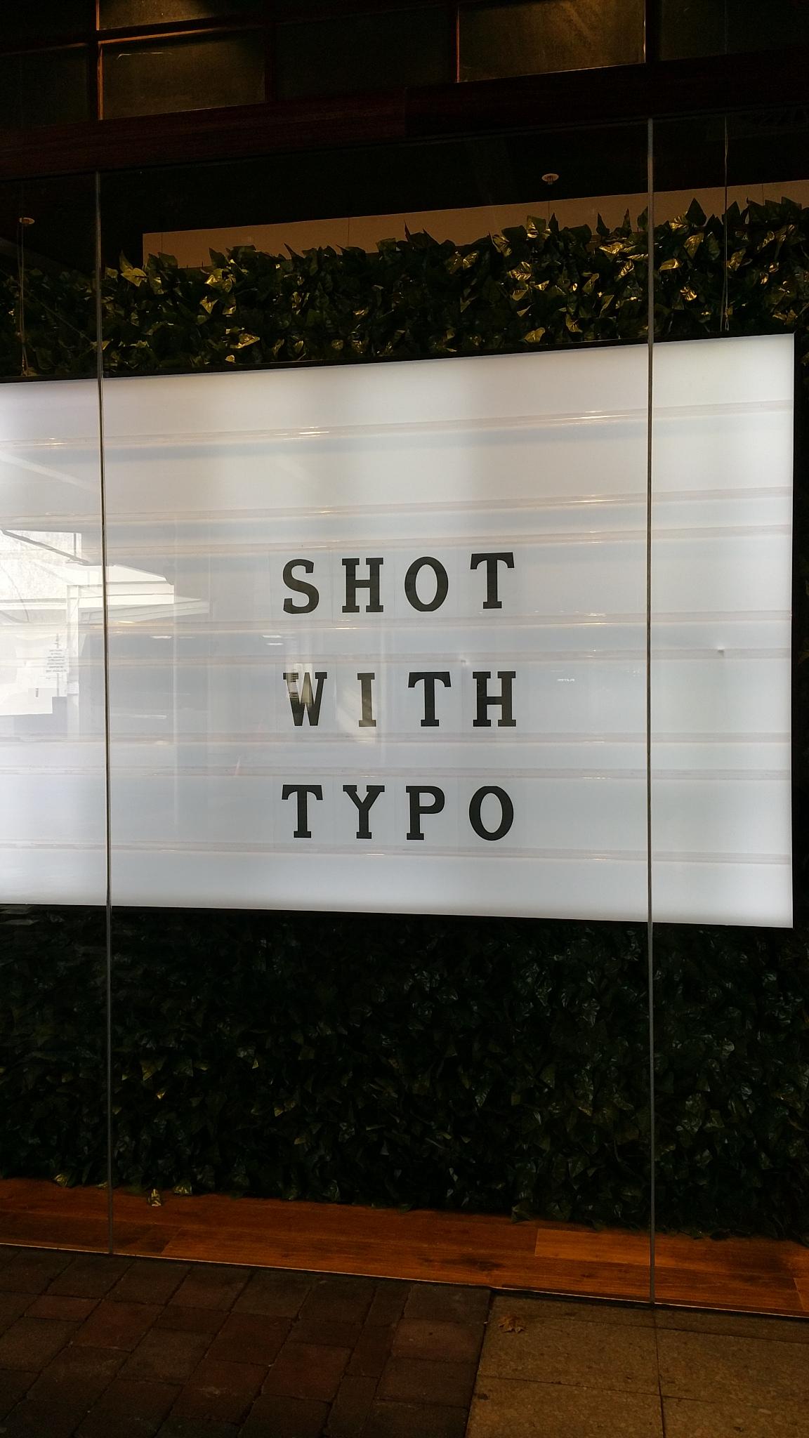 Shop sign in Canberra